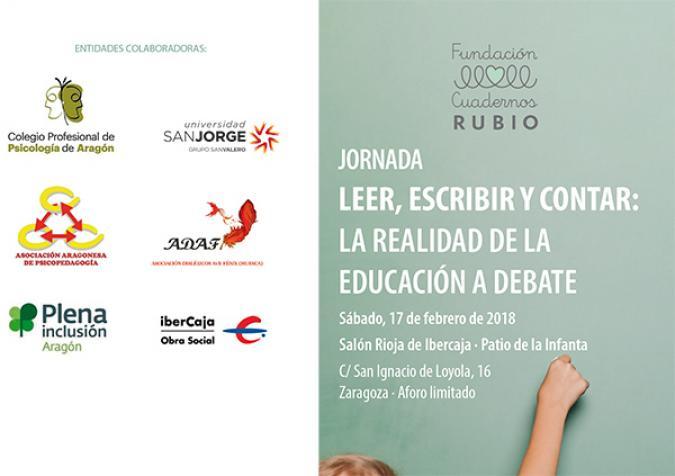 Jornada: leer, escribir y contar, la realidad de la educación a debate