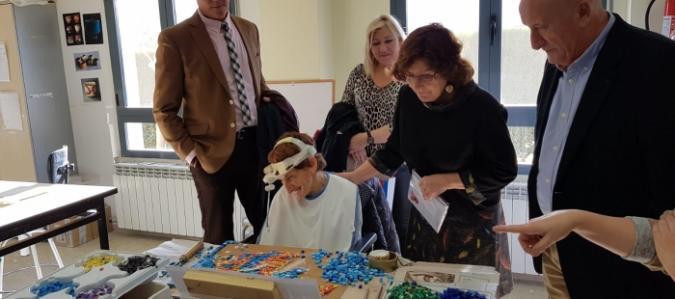 Maria Victoria Broto visita AMIBIL en Calatayud