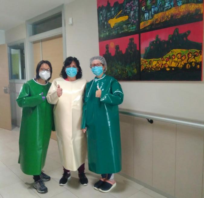 Tres trabajadoras de Amibil