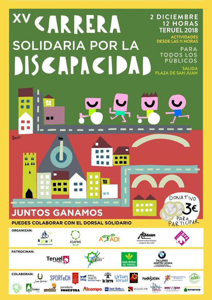 Carrera Solidaria en Teruel por la Discapacidad con inscripciones online