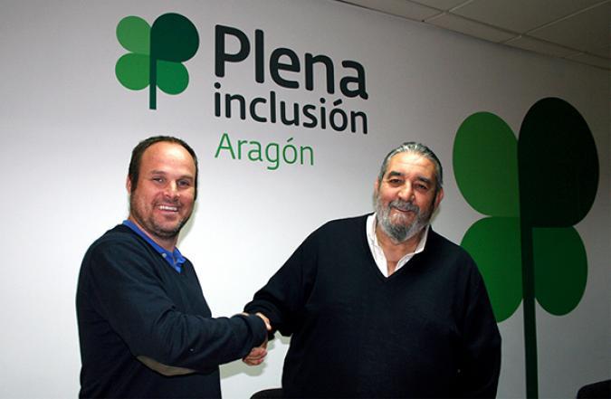 PADEL Zaragoza y Plena inclusión Aragón firman un convenio de colaboración