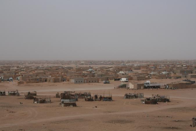 Campo de refugiados saharauis de El Aaiún en Tinduf (Argelia)