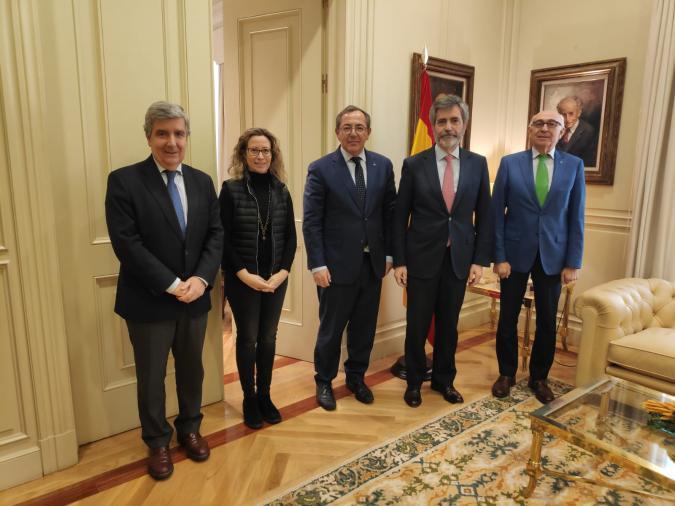Foto del encuentro de Plena inclusión y el presidente del CGPJ