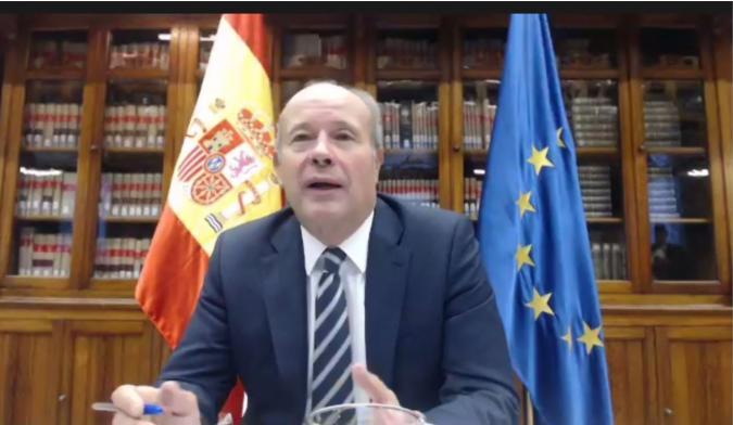 Juan Carlos Campo, ministro de Justicia, en el encuentro de Plena inclusión