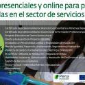 Reunión explicativa de los cursos de formación para personas empleadas del sector servicios sociales y mujeres desempleadas.
