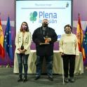 Noelia Vera, Ramón Álvarez y Beatriz Gimeno, en la entrega del DIE.