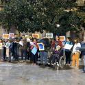Personas con discapacidad intelectual se concentranen Zaragoza para exigir unas elecciones accesibles